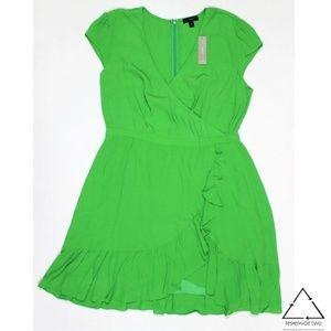 J Crew Faux Wrap Midi Dress J1652